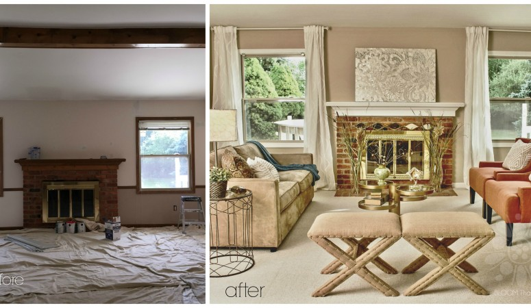 Plymouth, MI .. The Waverly Vacant Staging: Before & After